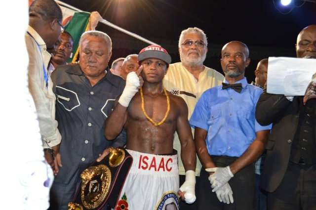 Isaac Dogboe knocks out Argentine Javier Chacon for WBO International Bantamweight Belt