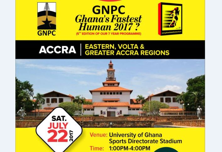 GNPC GHANA FASTEST HUMAN STORMS LEGON SATURDAY