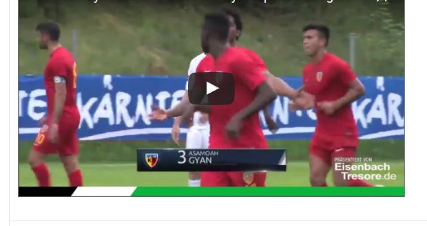 VIDEO: Asamoah Gyan in blistering form as he scores again in pre-season
