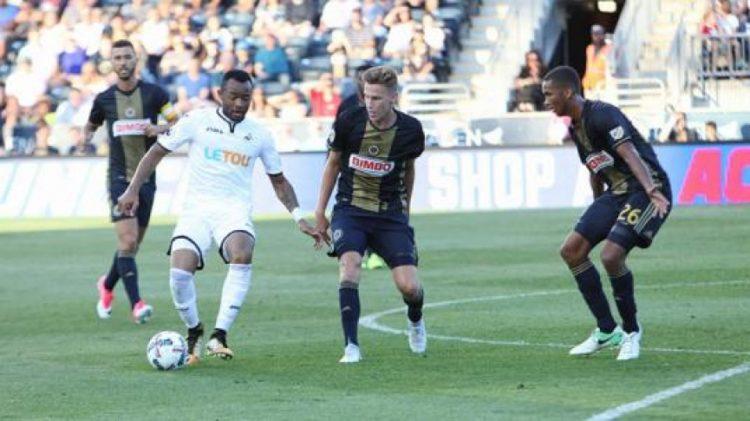 Jordan Ayew scores as Swansea draw with Philadelphia Union