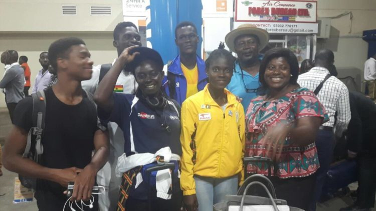 Team Ghana returns to Accra; Chef pleased with Team's performance- National swimming record broken