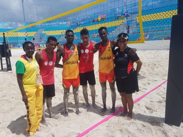 2017 Bahamas Commonwealth Youth Games  Beach Volleyball team in flying start
