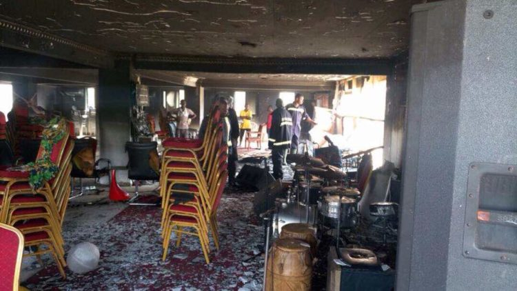 PHOTOS: Church Burnt Down By Assailants In Accra