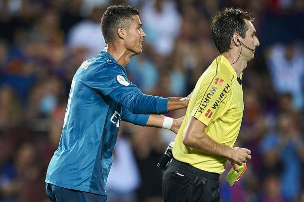 Ronaldo banned for shoving referee during El-clasico