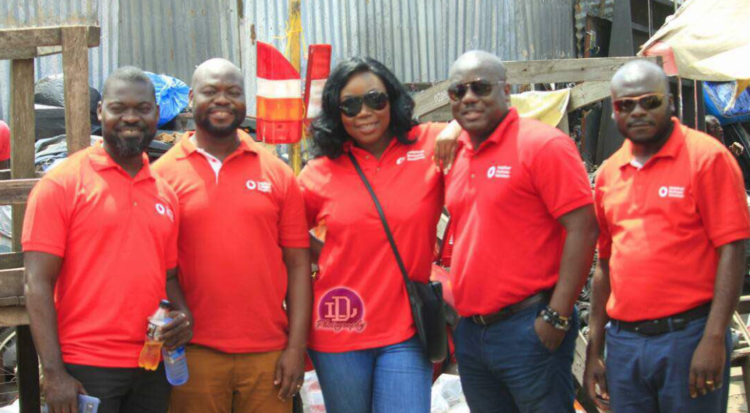Vodafone empowers spare parts traders at Abossey Okai
