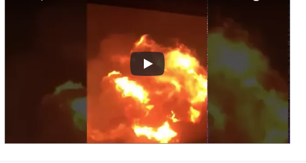 VIDEO: Massive Gas Explosion At Atomic Junction