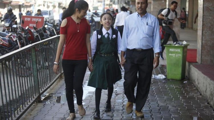 Nepal's newly-retired 'living goddess' Matina Shakya starts school