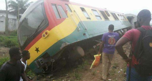 Train derails at Tesano