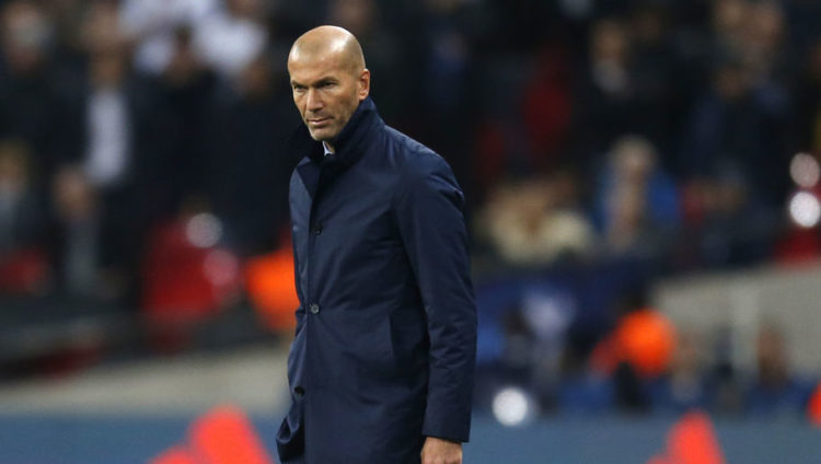 Zinedine Zidane Not Worried by Poor Madrid Display Following Humiliating Tottenham Defeat