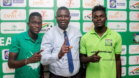 Dreams FC unveils Issah Yakubu, Razak Cromwell