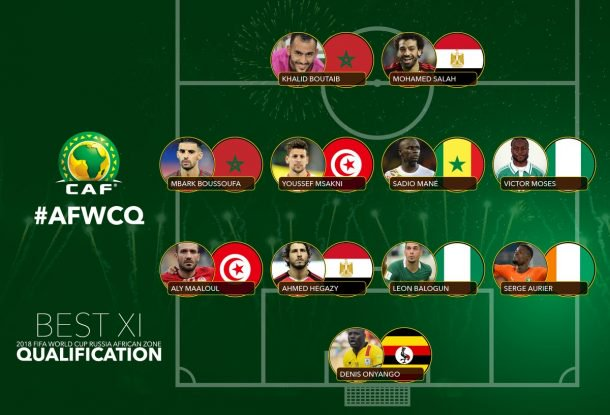 No Ghanaian player in CAF 2018 World Cup qualifiers Best XI