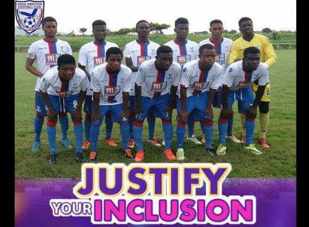 Great Ambition FC to organize five days justify-your-inclusion exercise