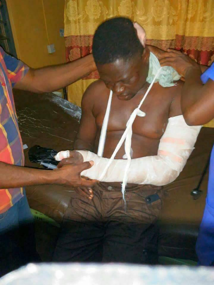 Photos: NPP man stabbed by Collins Dauda's brother still jobless