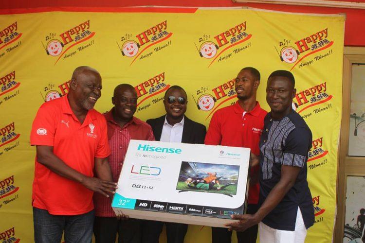 Happy FM- Hisense Present Prizes To Aduana Stars, Hans Kwofie, Highest Correct Texter