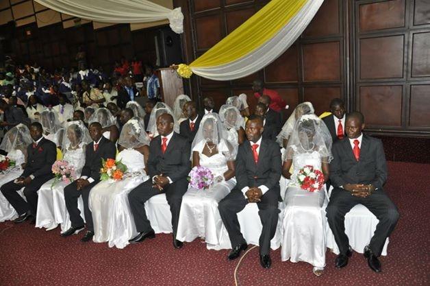 Scores Scramble For Happy FM Mass Wedding