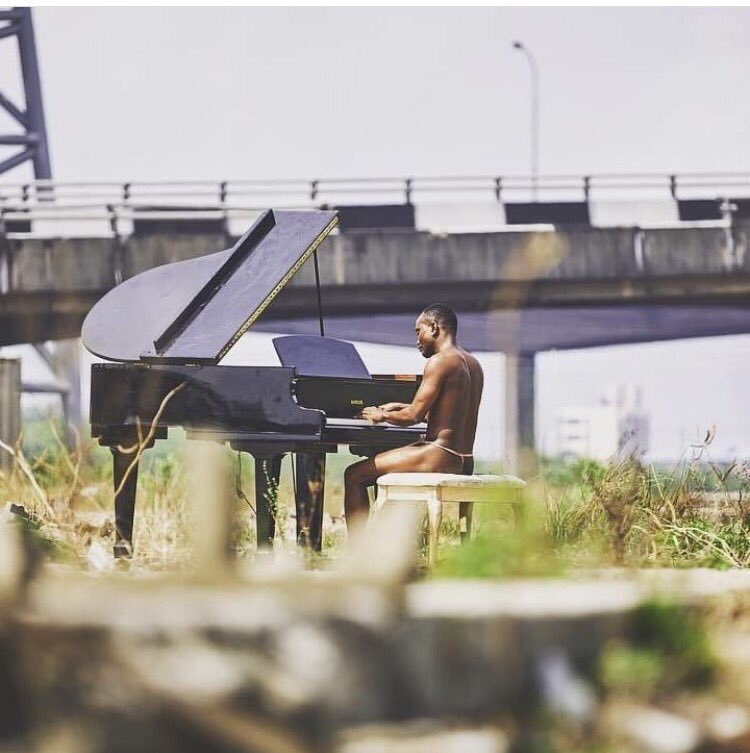 Nigerian singer, Brymo shocks Africa as he appears in only 'G-String' for video shoot