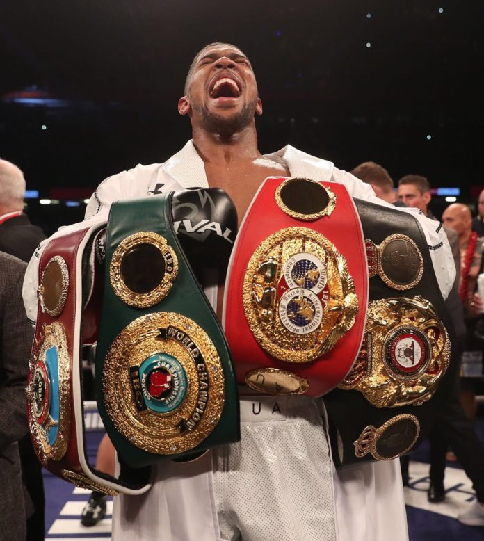 Anthony Joshua defeats Joseph Parker on points to win fourth world title