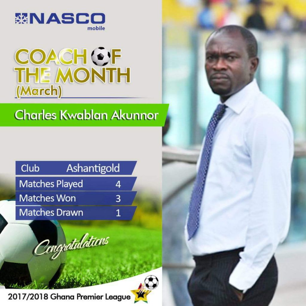 CK Akunnor: Coach of the month award will inspire me to do more