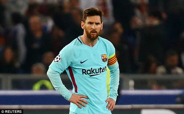 UEFA CL: Messi 'fears Roma defeat will see Cristiano Ronaldo win Ballon d'Or'
