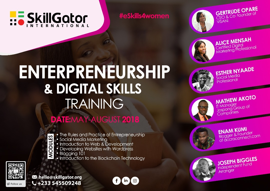 SkillGator To Offer Ghanaian Women Free Training In Entrepreneurship and Digital Skills