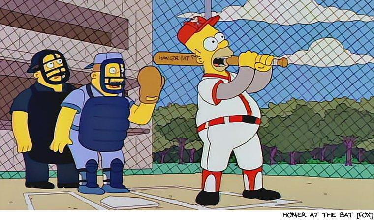 Major League Baseball's Newest Hall Of Famer:  Homer Simpson