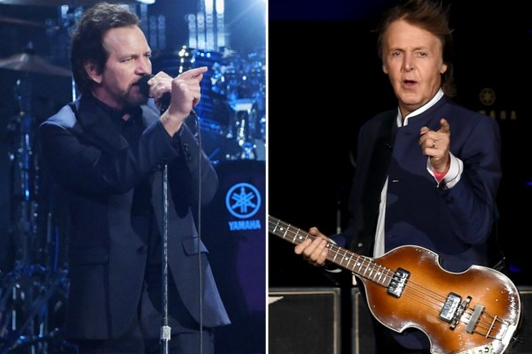 """Paul McCartney Just Hit Me In the Face And It Hurt!"" ~ Eddie Vedder"