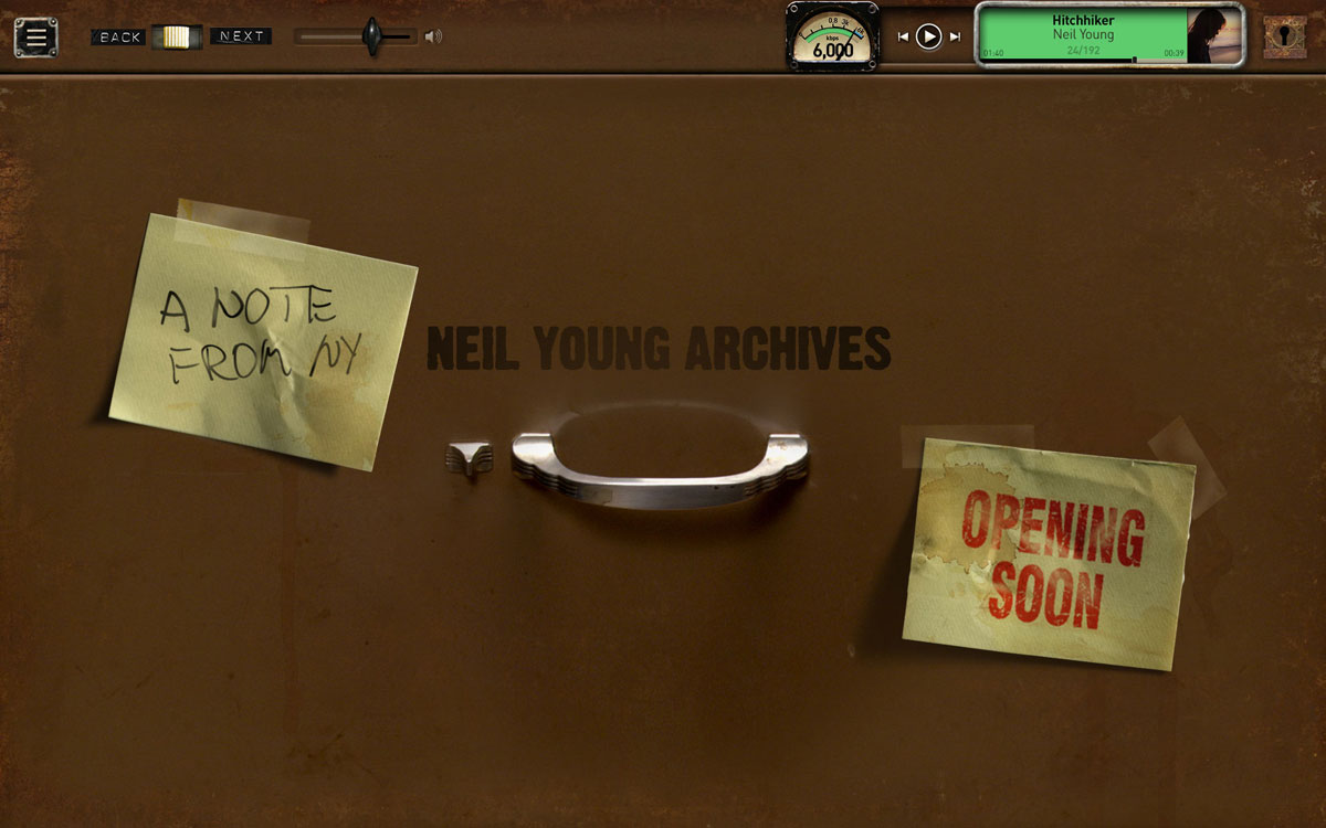 Neil Young *Complete* Archives Online