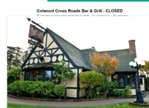 The last incarnation of Colwood Inn before it closed and was moved to the back of the property at Colwood Corners.