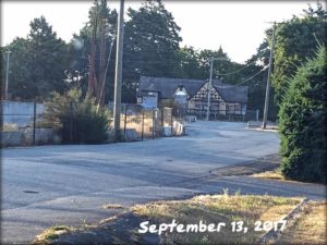 Here's the pub fenced off. View from Sooke Rd. as you drive past Colwood Corners development.