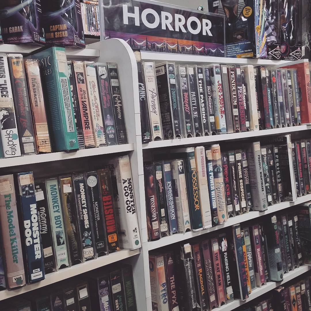 Terror on Tape! horror VHS boxes from the video store