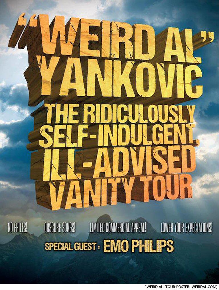 """Weird Al"" Yankovic:  Master Of Shade, Even In Tour Titles"