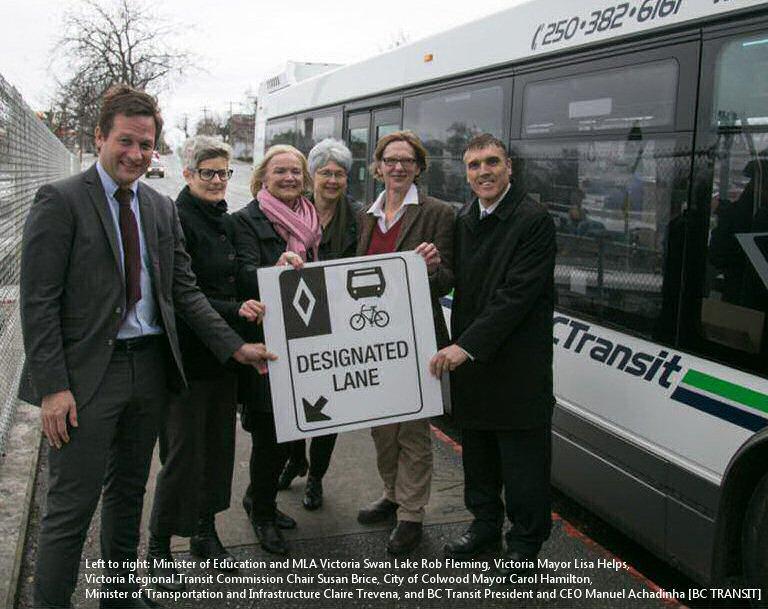 More Douglas Street Priority Bus Lanes Under Construction