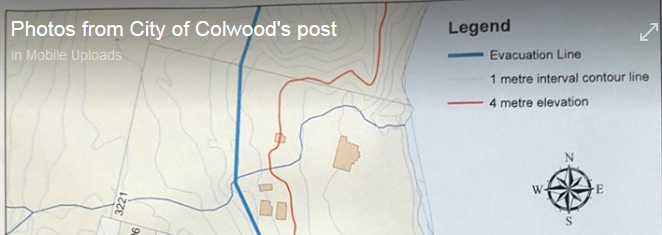 how high would a tsunami wave impact Colwood?