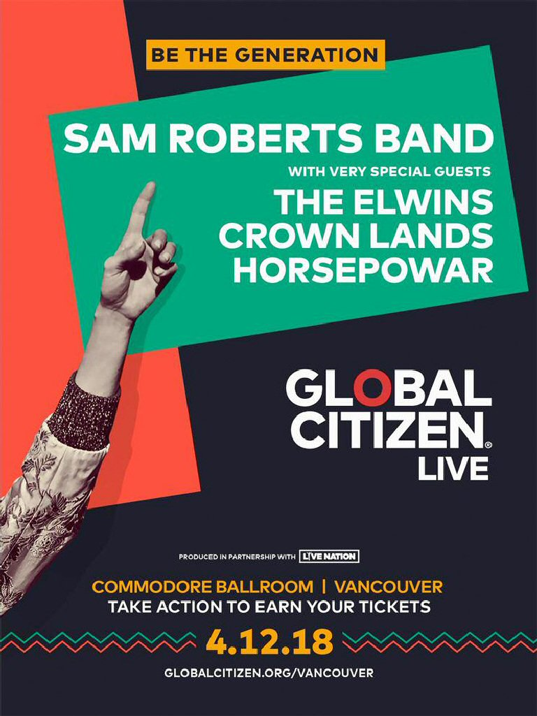 See The Sam Roberts Band For Free, In Return For Lending An Advocacy Hand