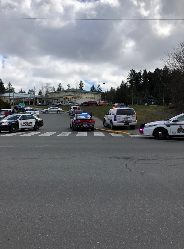 Lengthy lockdown at a school in Brentwood Bay over