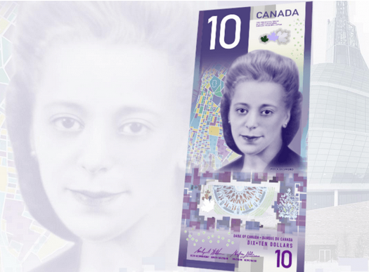 new $10 bill with first Canadian woman featured