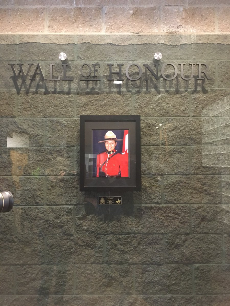 """Mounties unveil """"Wall of Honour"""" for Sarah Beckett"""