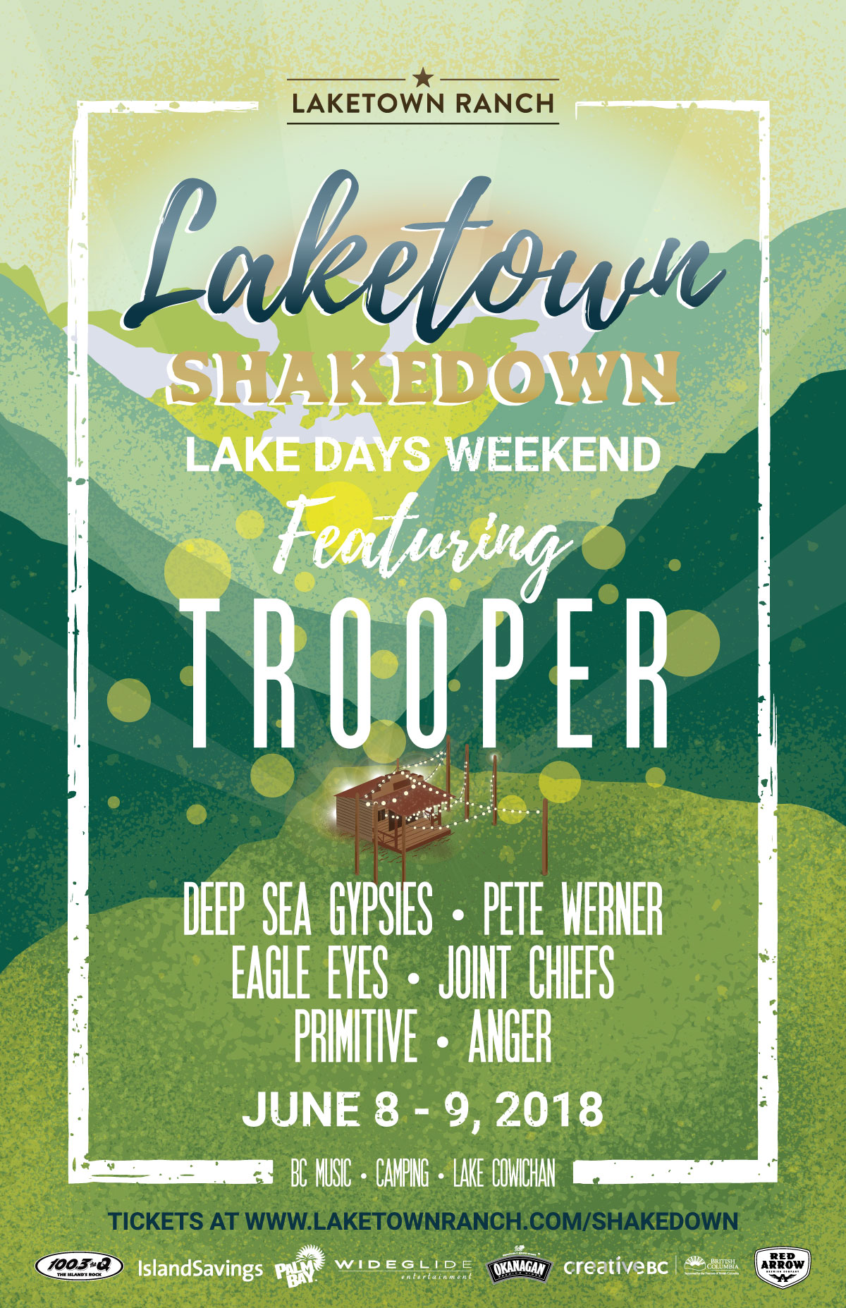 100.3 The Q! is proud to present:  Laketown Shakedown!