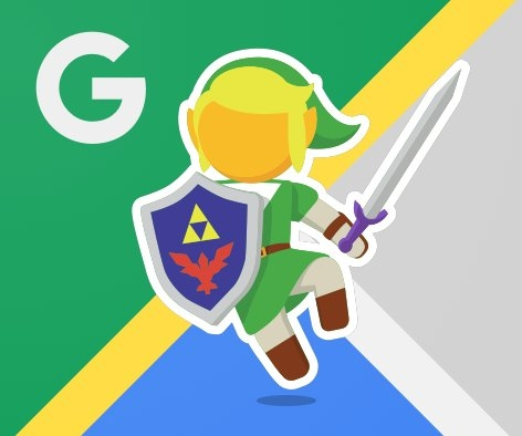 Google Maps Zelda Easter Egg