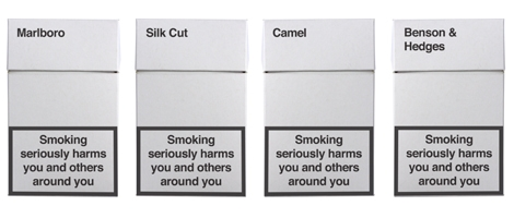 Making cigarette packages totally boring.