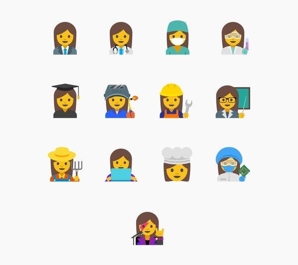Google Proposes 13 Working Women Emoji