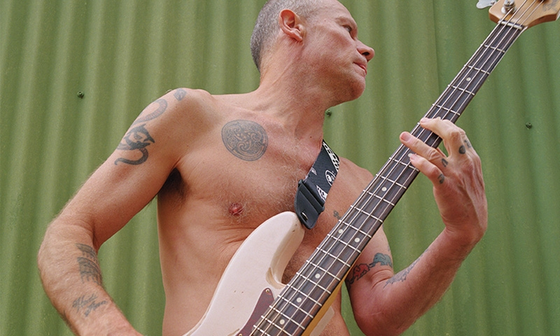 You can slap the same Fender bass as Flea from the RHCP