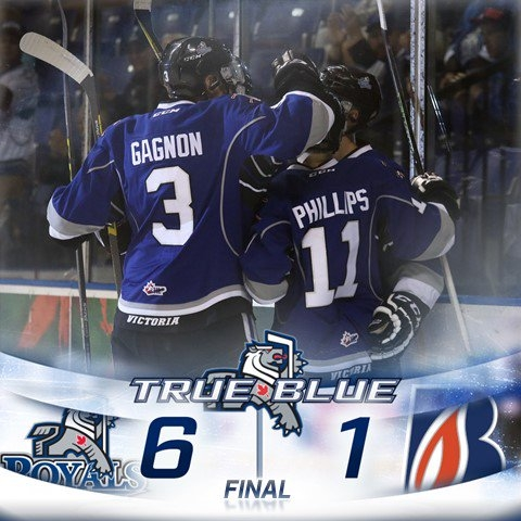 Royals Burn Blazers 6-1 Saturday