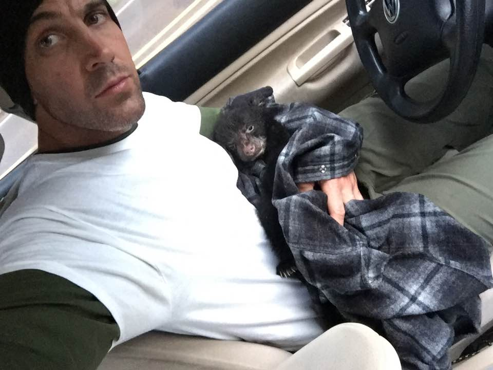 BEAR WEEK HERO Corey Hancock Saves Dying Bear Cub During Hike