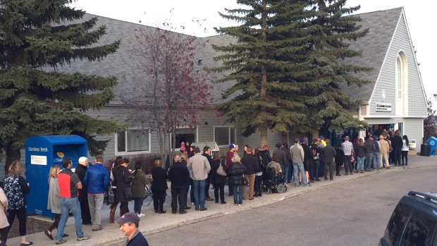Calgary voters come out in huge numbers