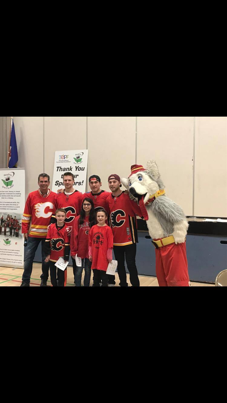 Reading...Give it a Shot! With the Calgary Flames