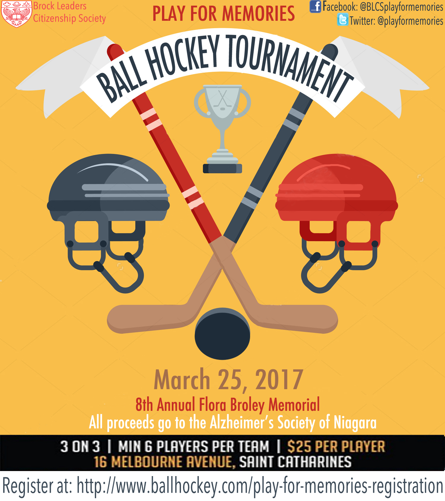 PLAY FOR MEMORIES BALL HOCKEY TOURNAMENT