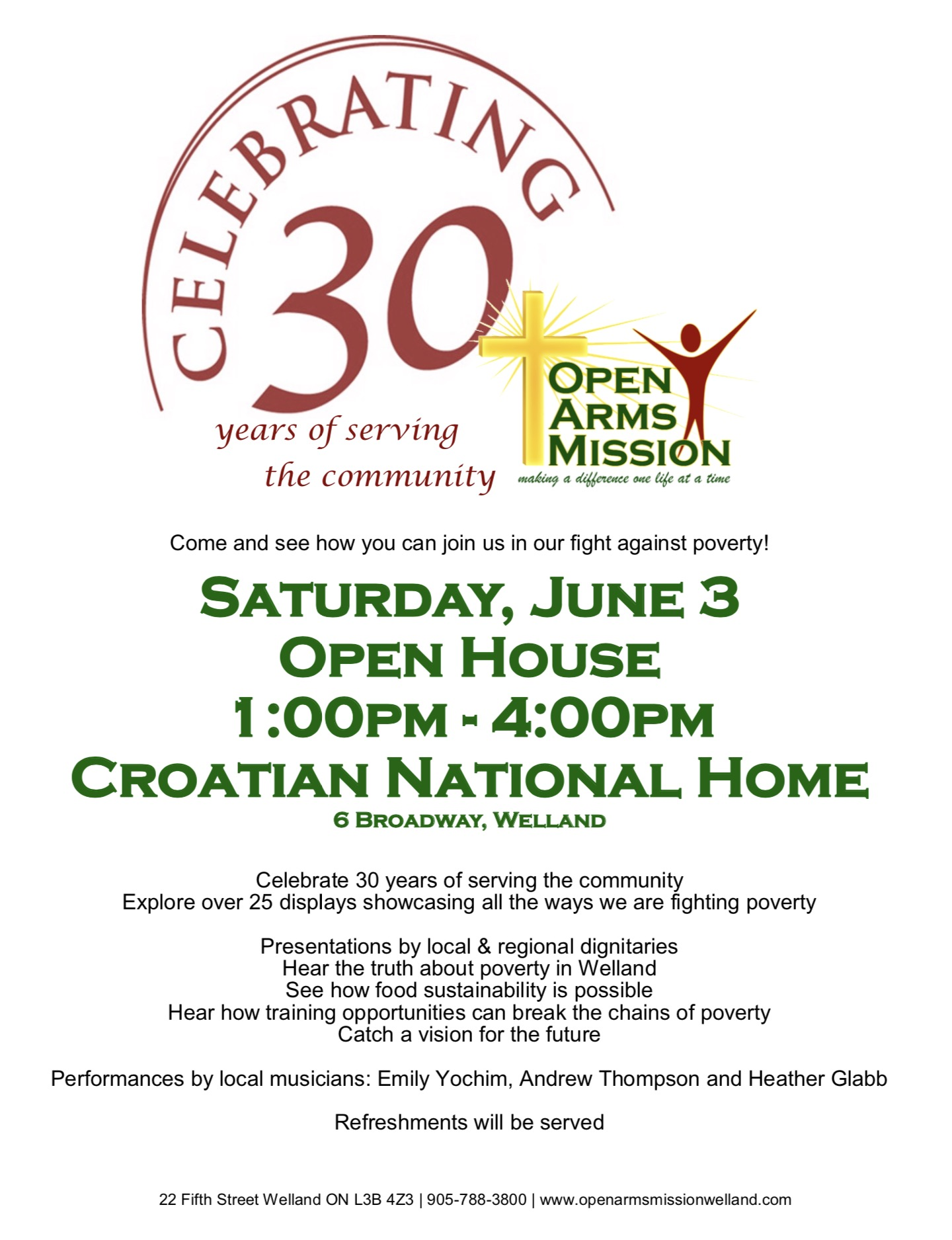 Open Arms Mission 30th Anniversary