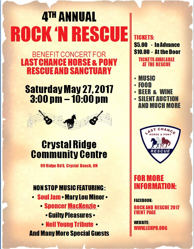 4th Annual Rock N Rescue Benefit Fundraiser for Last Chance Horse and Pony Rescue&Sanctuary