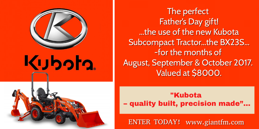 Kubota Subcompact Tractor – The Perfect Father's Day Gift